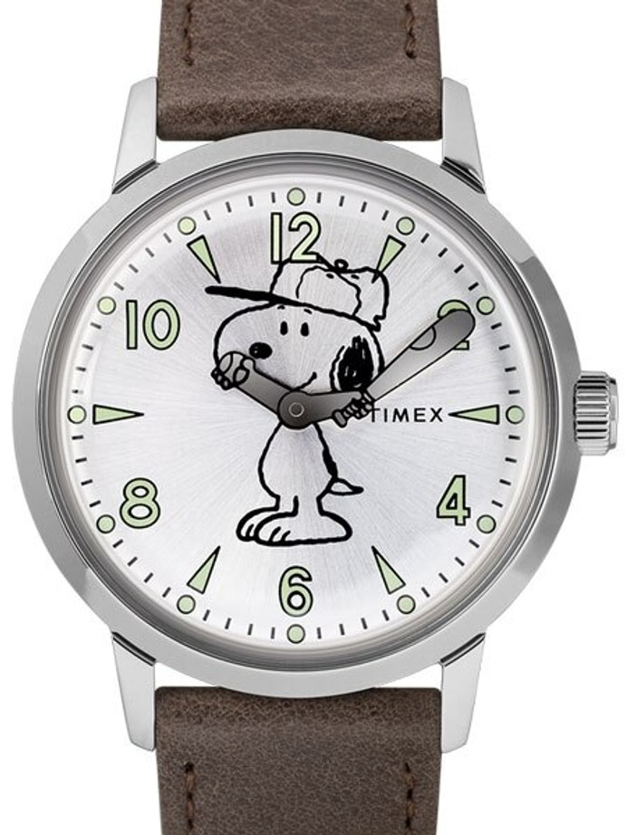 Timex 40mm Welton Quartz Watch with Snoopy Baseball Themed Dial #TW2R94900VQ