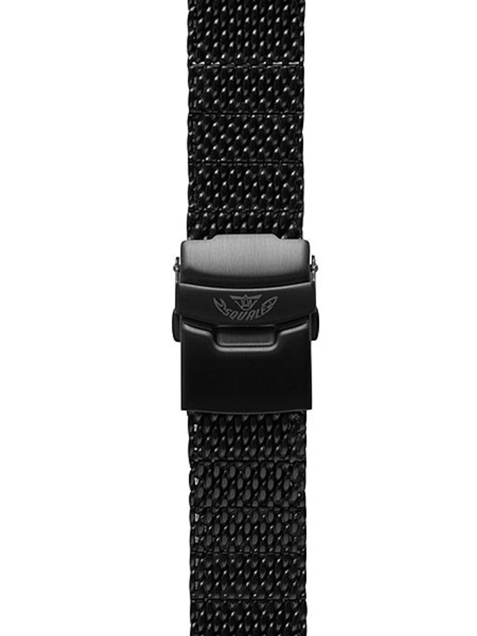 Squale 20mm Deluxe Black PVD Mesh Bracelet #1521-Mesh-PVD