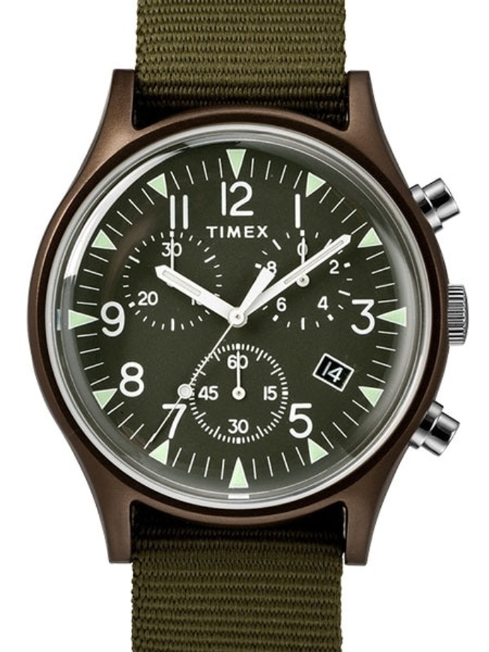 Timex 40mm MK1 Quartz Chronograph with Green Dial and INDIGLO Night-Light #TW2R67800VQ