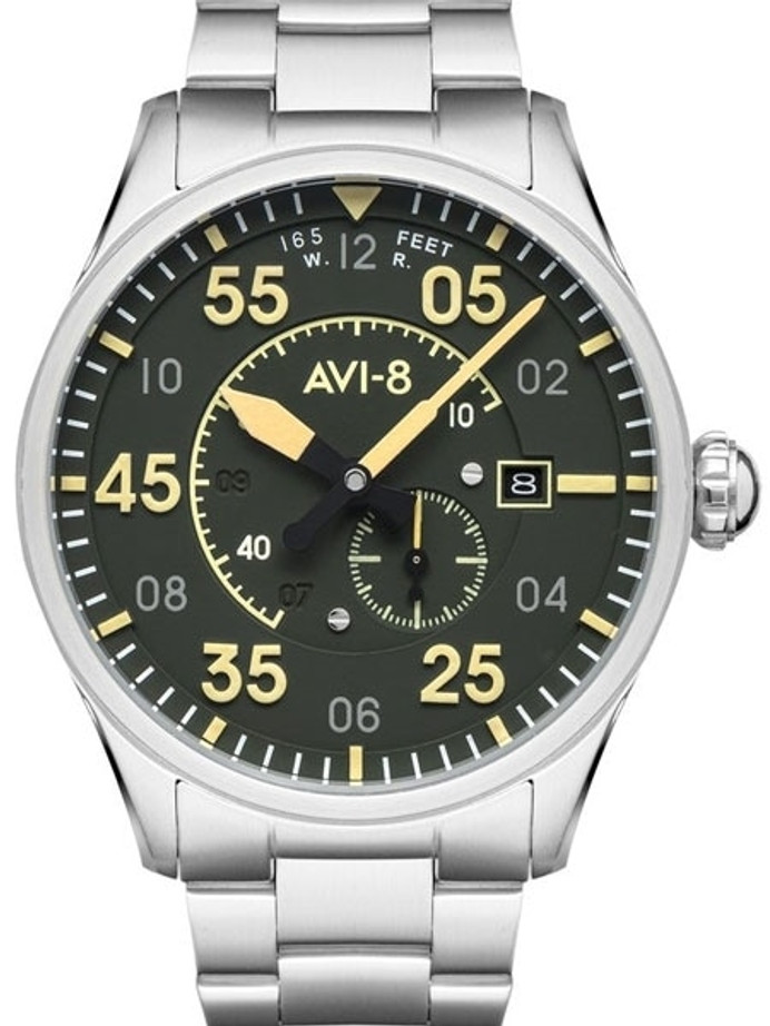 AVI-8 Spitfire Type 300 Edition, 21-Jewel Automatic Pilot Watch, AR Sapphire Crystal #AV-4073-22
