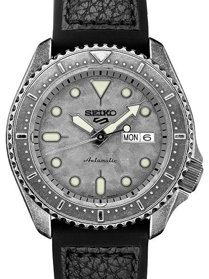 Seiko 5 Sports 24-Jewel Automatic Watch with Aged-Patina SS Case #SRPE79
