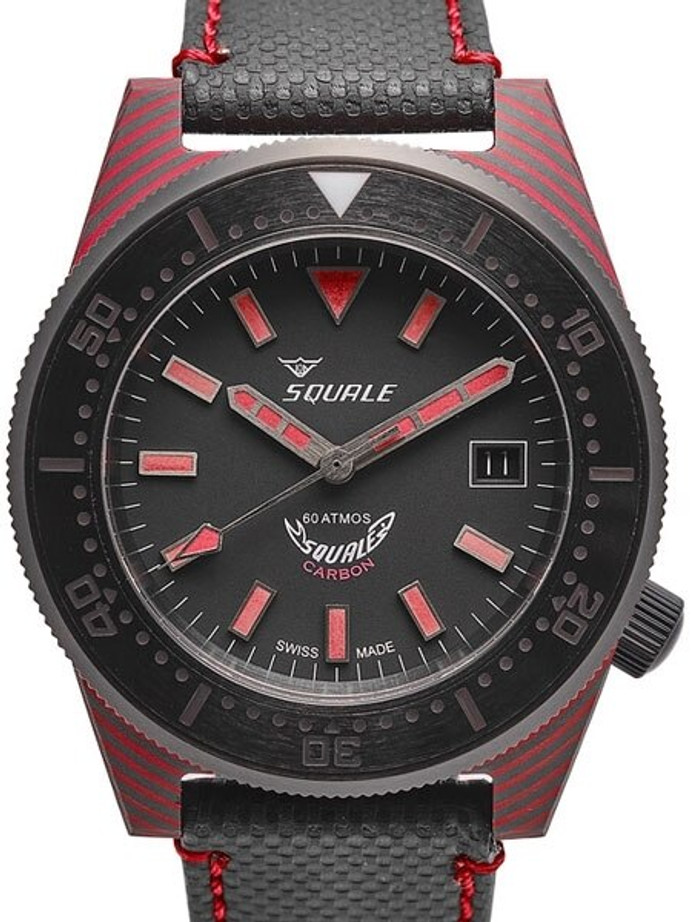 Squale 600 Meter Swiss Made Automatic Dive Watch with 42mm Carbon Fiber Case  #T183R