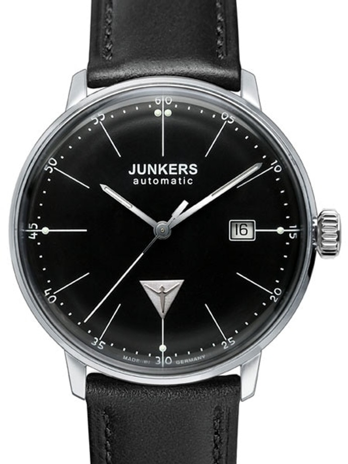 Junkers Bauhaus Swiss Automatic Watch with Domed Hesalite Crystal #6050-2