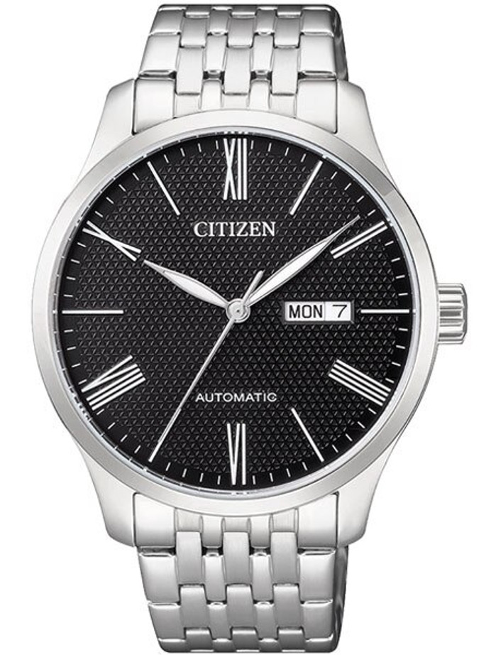 Citizen Automatic Black Dial Watch with Stainless Steel Bracelet #NH8350-59E