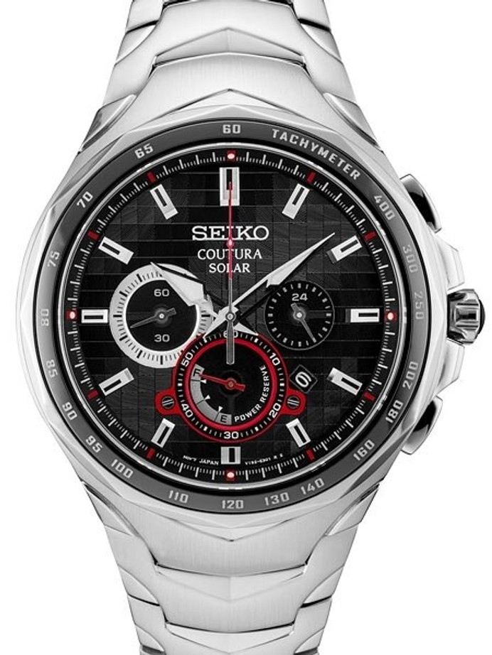 Seiko Coutura Solar Powered Chronograph with Sapphire Crystal #SSC743