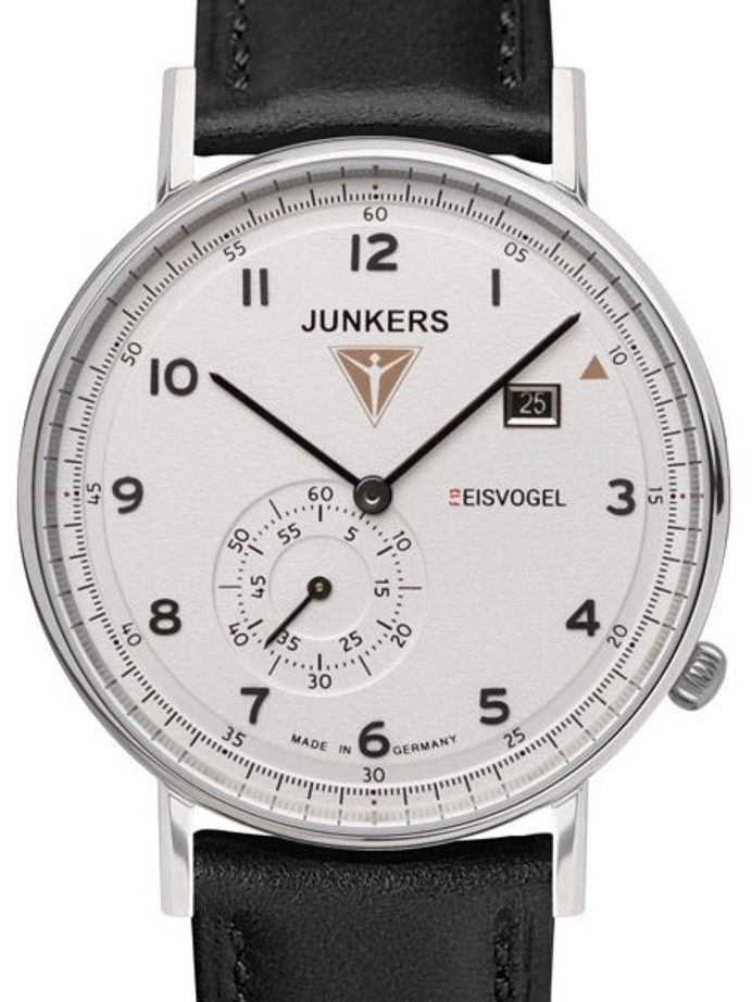 Junkers Eisvogel F13 Swiss Quartz Dress Watch with Small Seconds, Date  #6730-1