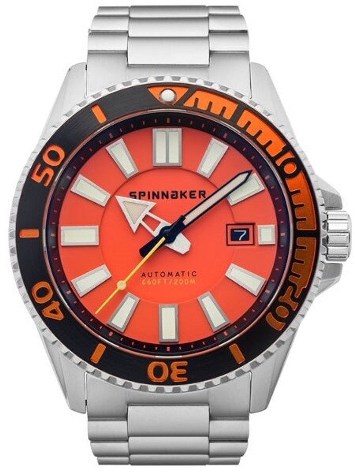 Spinnaker Automatic 200 Meter Dive Watch with Stainless Steel Bracelet #SP-5074-44