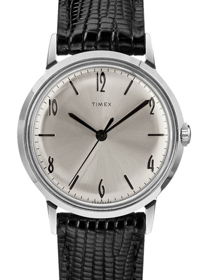 Timex 34mm Marlin Mechanical (Hand Wind) Watch with Silver Dial #TW2R47900ZV