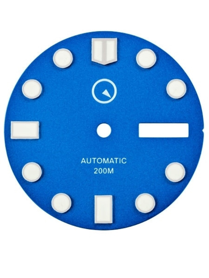 Blue Dial with SuperLuminova for Seiko 7S26, NH36 and 4R36 Movements #D02