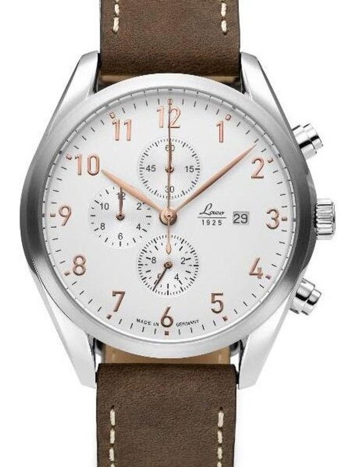 Laco Montreal Type C Dial Chronograph Watch with 12-hour Totalizer #861920