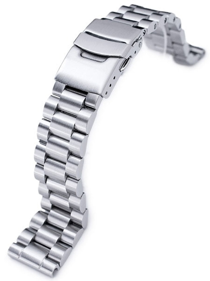 Strapcode 20mm Endmill Stainless Steel Watch Bracelet, Straight End #SS201803B030S