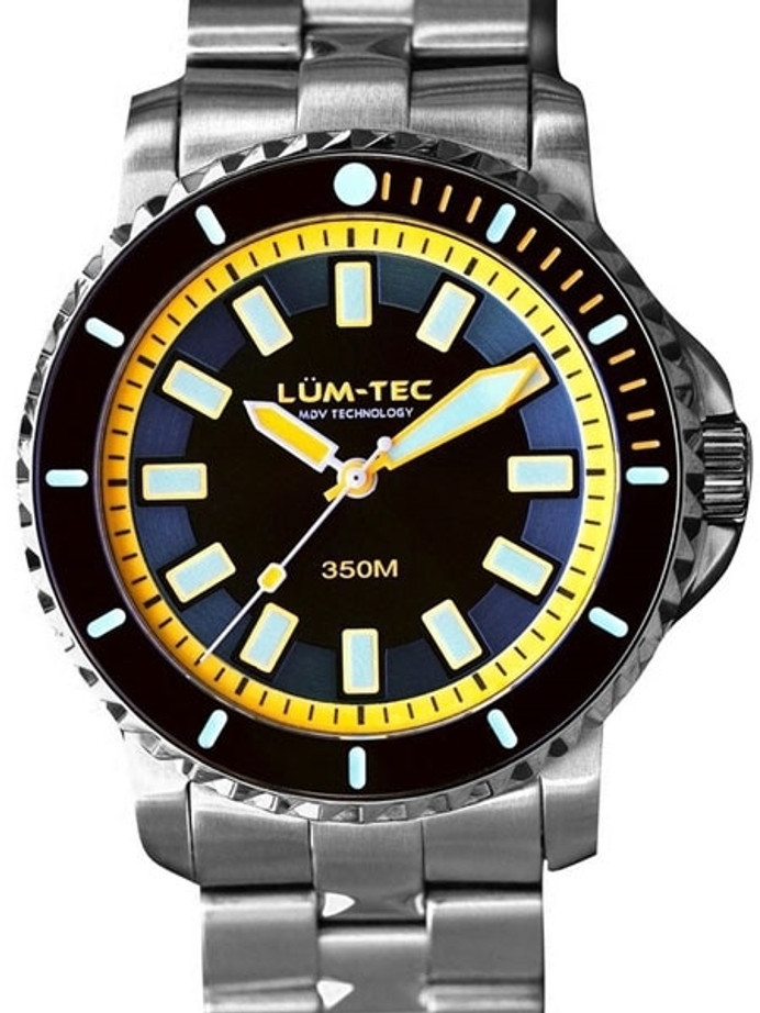 Lum-Tec 43mm Swiss Automatic, Anti-Magnetic 350 meter Dive Watch #350M-3