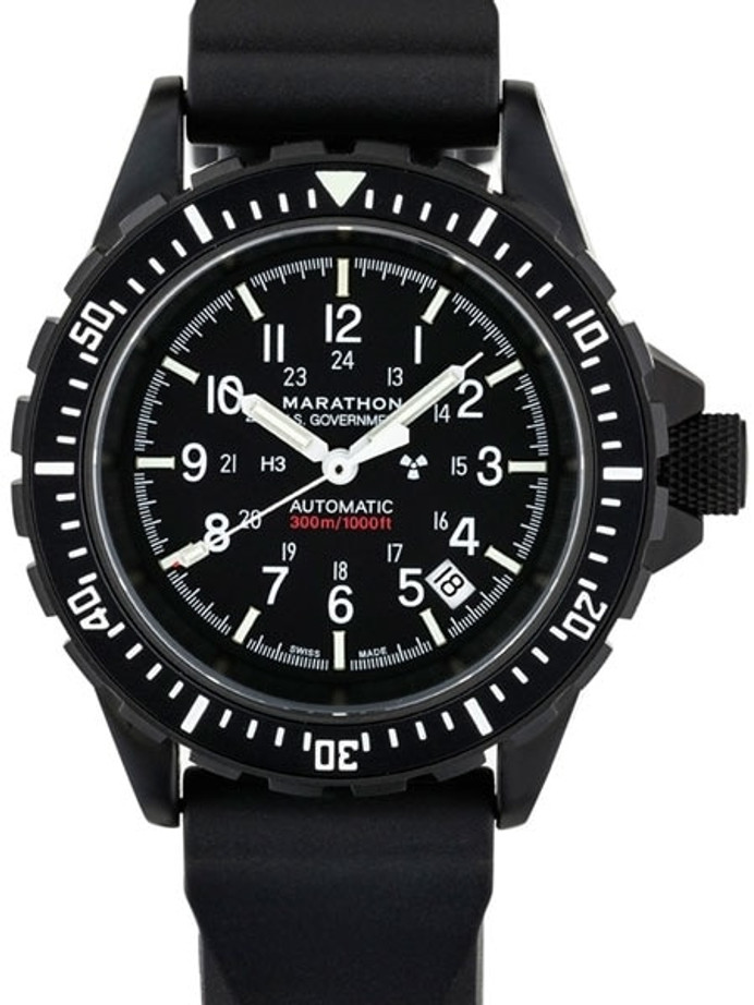 Marathon Swiss Made, GSAR Automatic Military Divers Watch with Sapphire Crystal #WW194006BK