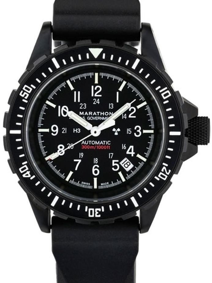 Marathon Swiss Made, GSAR Automatic Military Divers Watch with Sapphire Crystal #WW194006BK