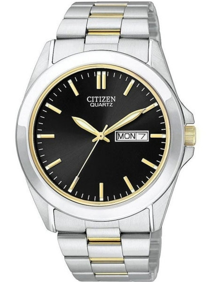 Citizen Two-Tone Quartz Watch with Stainless Steel Bracelet #BF0584-56E