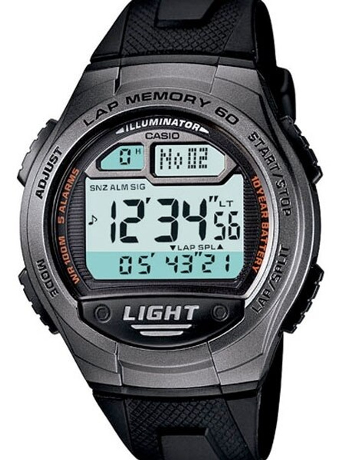 Casio Sport Runners Watch with 60 Lap Memory, Pace Signal, and Distance Calculation #W-734-1AV