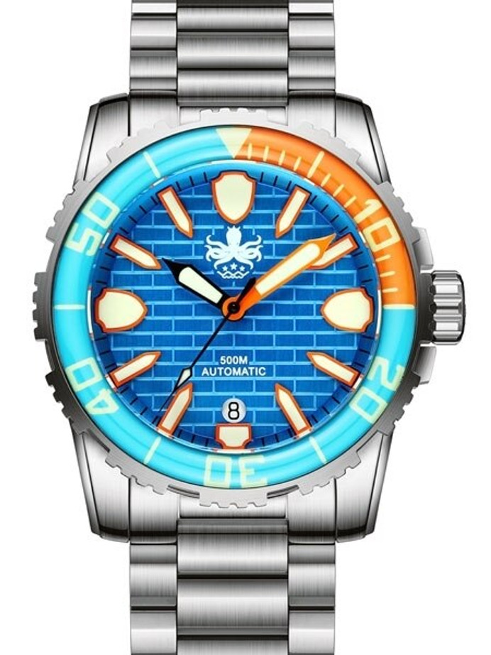 PHOIBOS 500-Meter Great Wall Swiss ETA Automatic Dive Watch with DD AR Sapphire Crystal #PY022B