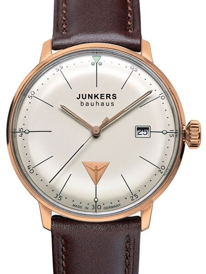 Junkers Bauhaus Swiss Quartz Watch with Domed Hesalite Crystal #6074-1