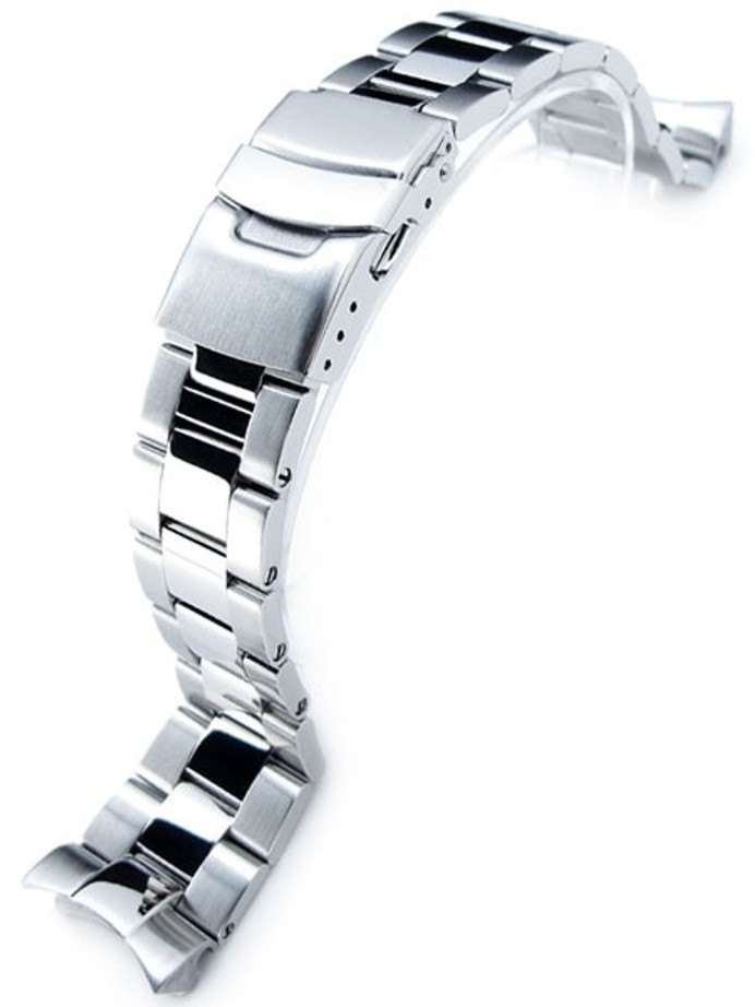 """Strapcode Super-O """"Boyer"""" Brushed & Polished 316L Stainless Steel Watch Band for SEIKO Diver SKX007/009/011 #SS221803BPS019"""