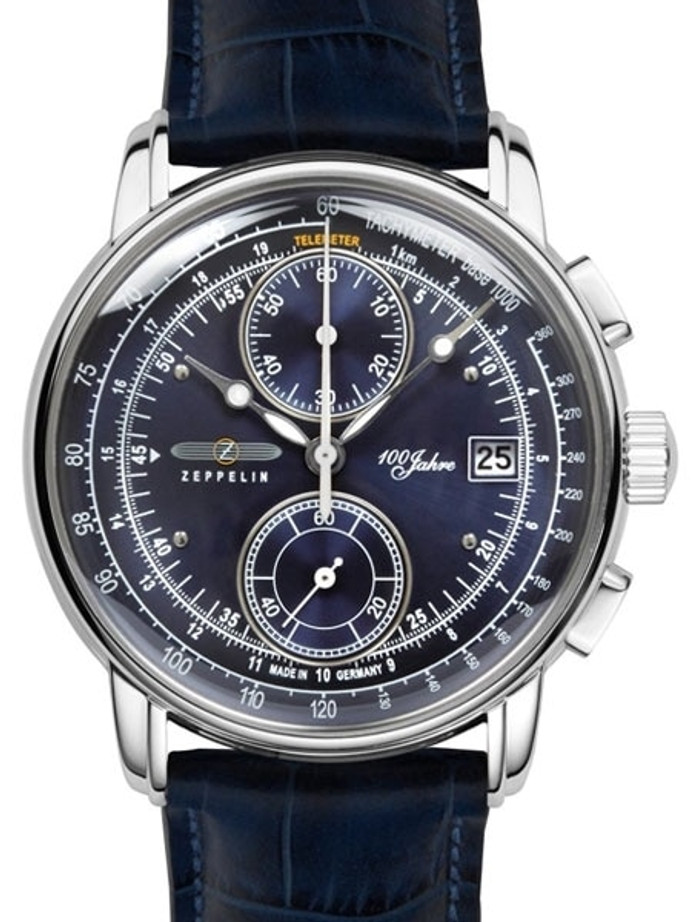 Graf Zeppelin Two-Eye Quartz Chronograph Watch with 60-Minute Stopwatch #8670-3