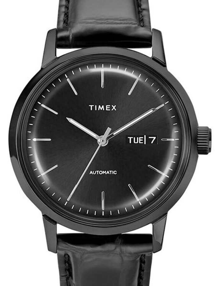 Timex 40mm Marlin 21-Jewel Automatic Watch with Black Case and Dial #TW2U11700ZV