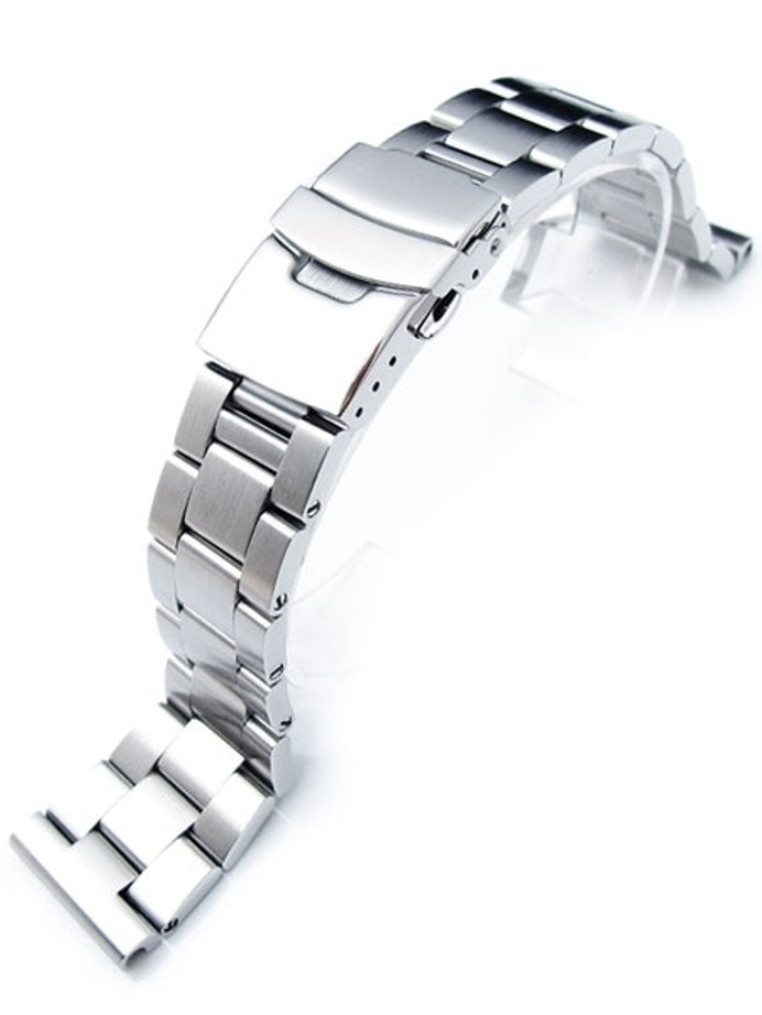 """Strapcode 22mm Super-O """"Boyer"""" watch band with Straight Ends #SS221803B019S"""