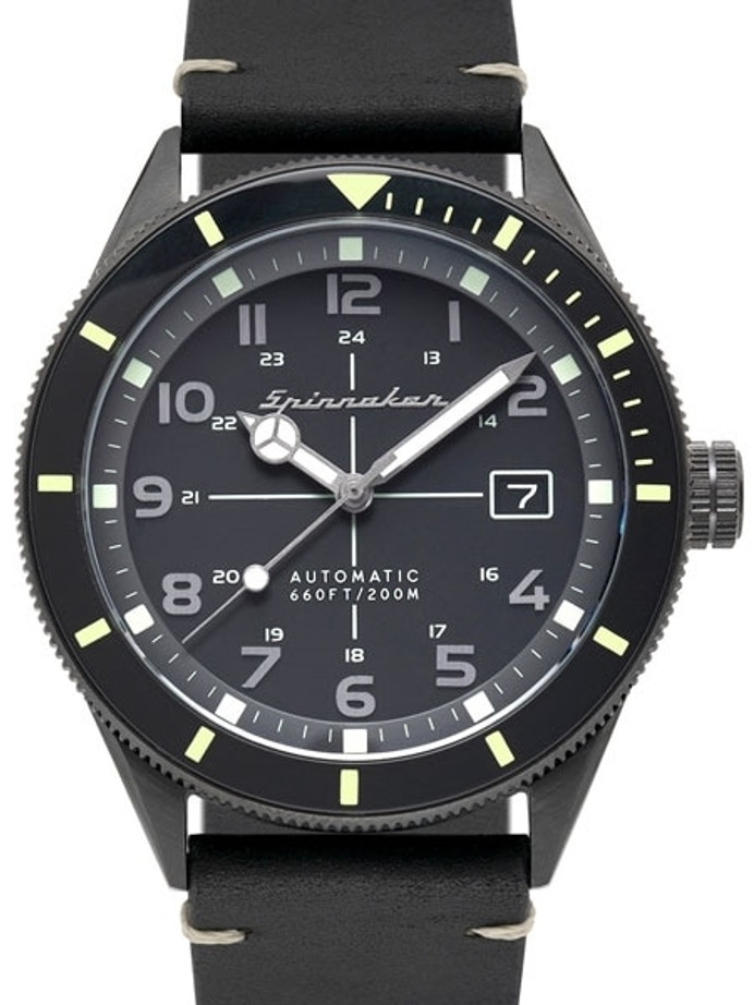 Spinnaker 43mm Cahill Automatic Dive Watch with Sapphire Crystal, Luminous Bezel #SP-5064-01