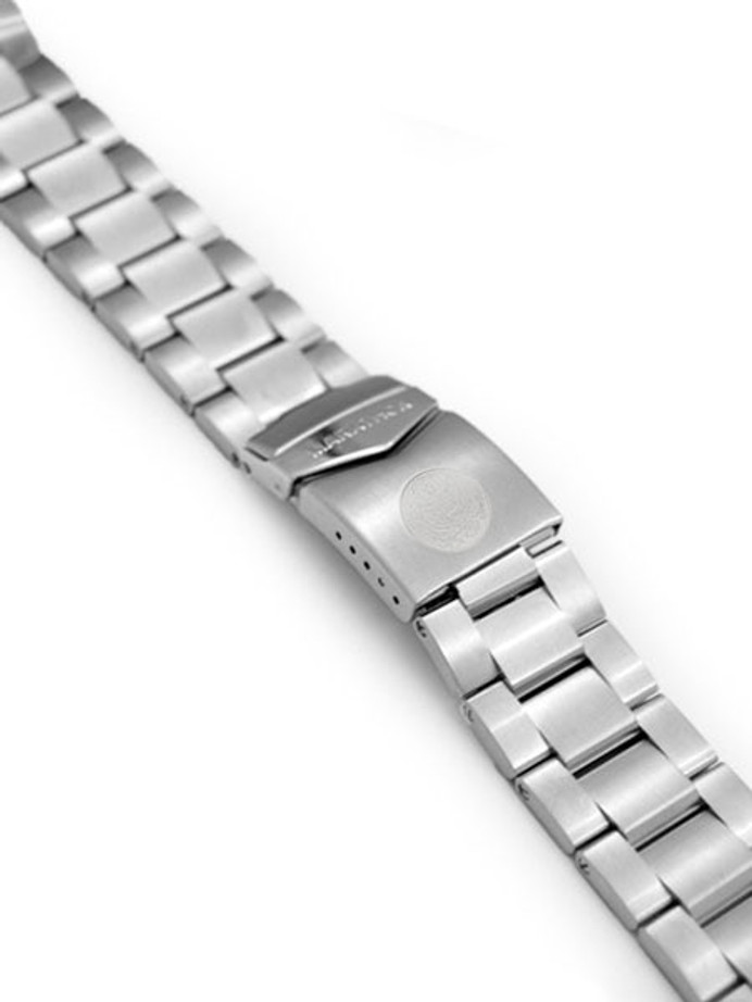 Marathon Brushed Finish Solid Link Bracelet #WW005005US (20mm)
