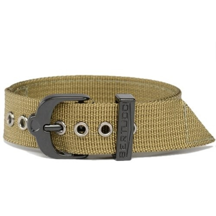 Bertucci Olive 2-Ply Nylon Strap with Black PVD Stainless Steel Buckle #2