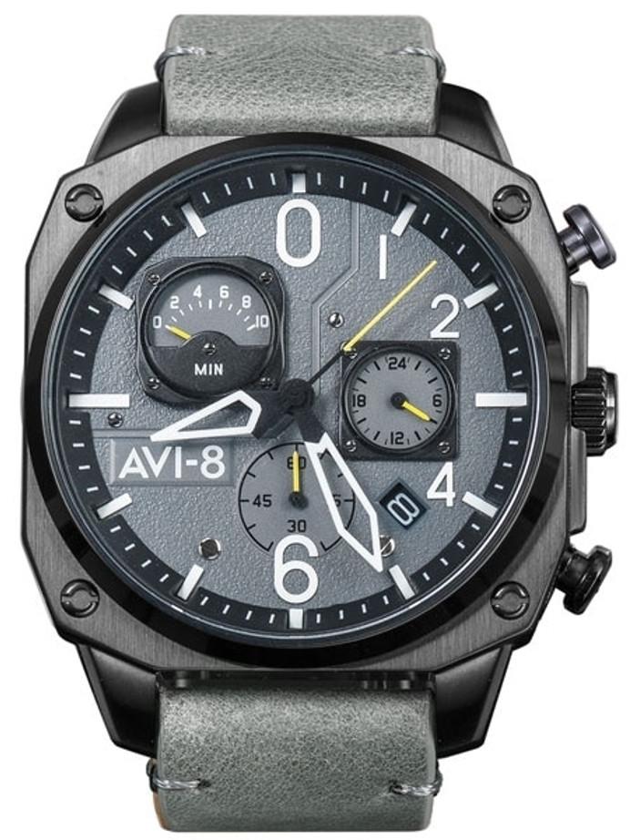 AVI-8 Hawker Hunter Retrograde Aviator Chronograph Watch #AV-4052-03