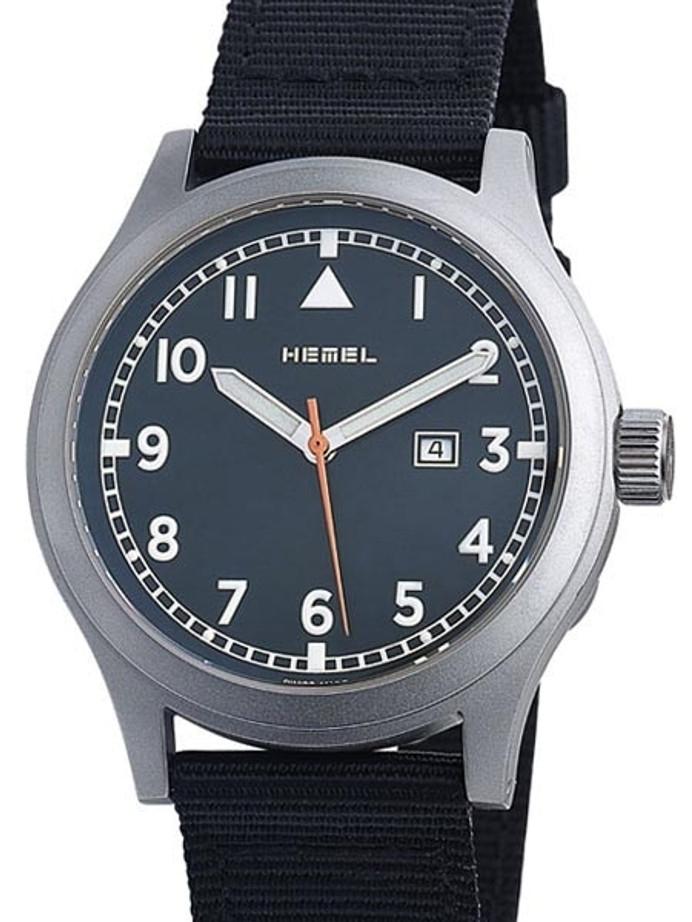 HEMEL S.W.A.T. Swiss ETA Quartz Field Watch with Matte Black Dial and Sapphire Crystal #HM9