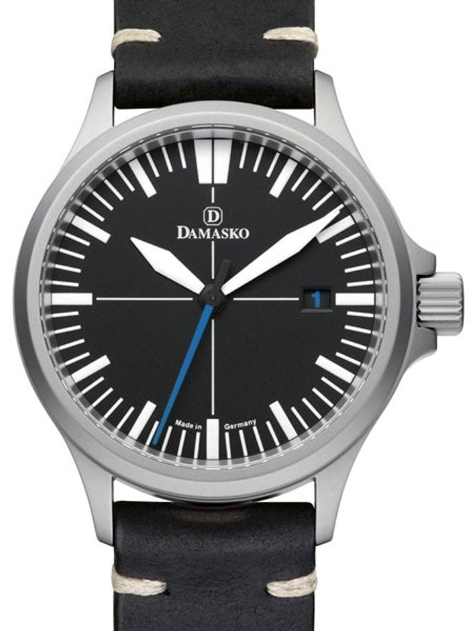 Damasko Swiss DS30 Automatic Watch with a 39mm Bead-Blasted Submarine Steel Case #DS30-BLUE