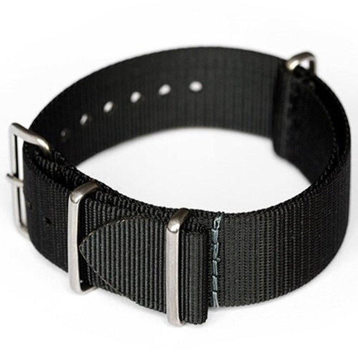 ADPT Black Nylon Strap with 316L Stainless Steel Buckle and Keepers  #MSN-ADPTBLK