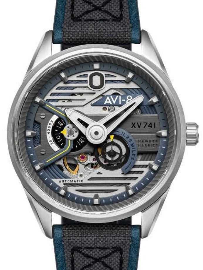 AVI-8 Admiral Blue Steel, 21-Jewel Automatic Pilot Watch, AR Sapphire Crystal #AV-4074-01