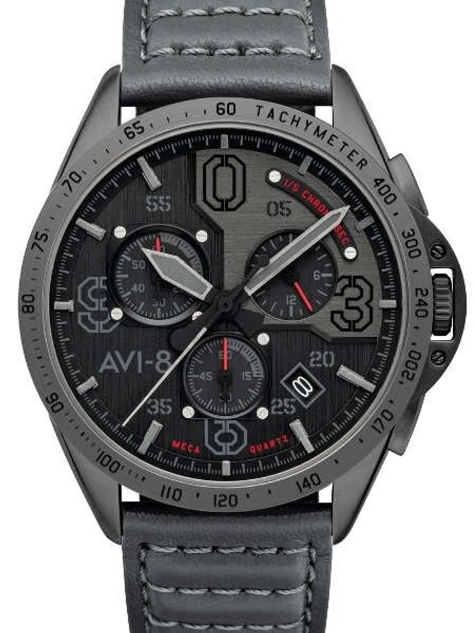 AVI-8 Brevet Blakeslee Pilot Chronograph Watch #AV-4077-03