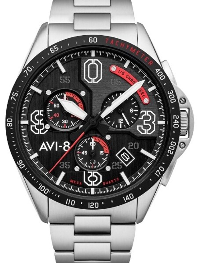 AVI-8 Legion Blakeslee Pilot  Chronograph Watch #AV-4077-11