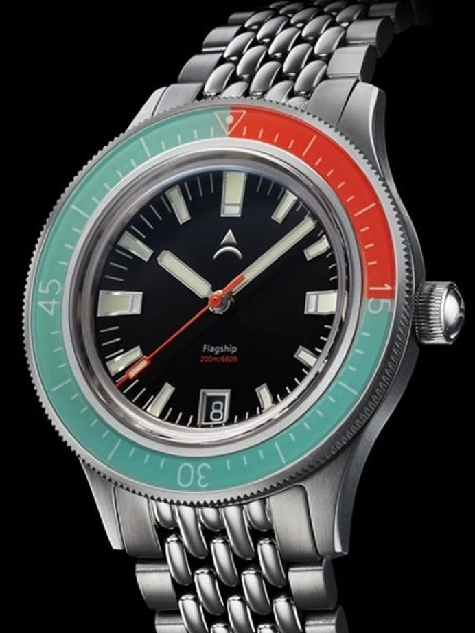 Axios Flagship 40 Temeraire 200-Meter Automatic Dive Watch with Box AR Sapphire Crystal #AX-04