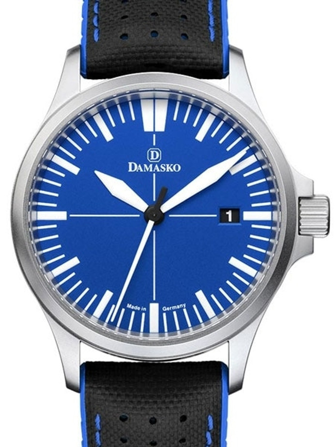 Damasko Swiss Automatic Watch with a 39mm Bead-Blasted Submarine Steel Case #DK32-Ocean