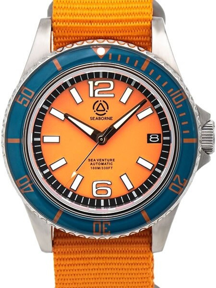 Seaborne Sea Venture 100-Meter Automatic Dive Watch with a 41mm Case and an AR Sapphire Crystal #SB-SV-003-SOD