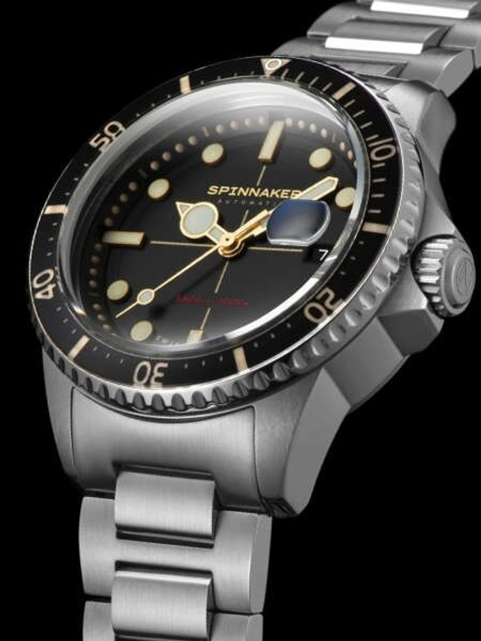 Spinnaker Black Tesei Mille Metri 1000-Meter Swiss Automatic Dive Watch #SP-5090-11