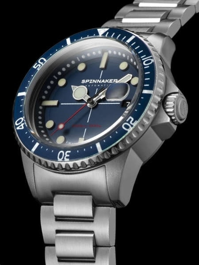 Spinnaker Blue Tesei Mille Metri 1000-Meter Swiss Automatic Dive Watch #SP-5090-22