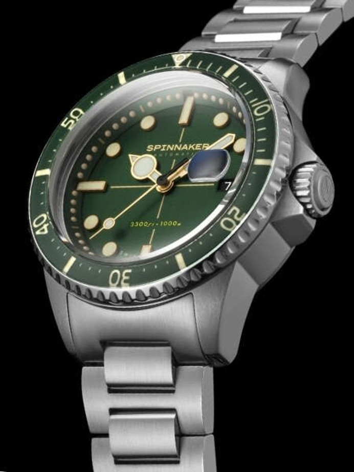 Spinnaker Green Tesei Mille Metri 1000-Meter Swiss Automatic Dive Watch #SP-5090-33