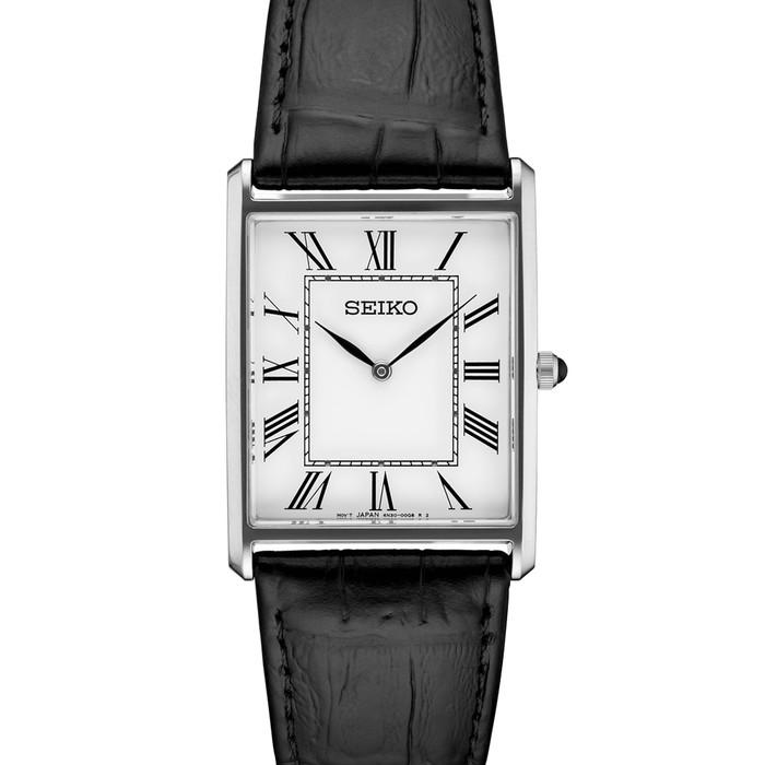 Seiko Classic Thin Quartz Dress Watch with Stainless Steel Case #SWR049