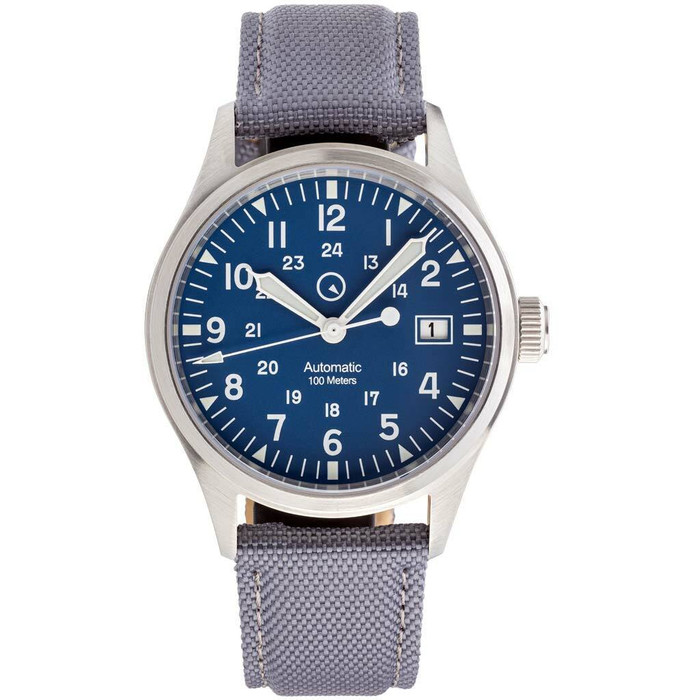 Islander Automatic Field Watch with Nylon Weave Strap and an AR Sapphire Crystal #ISL-42