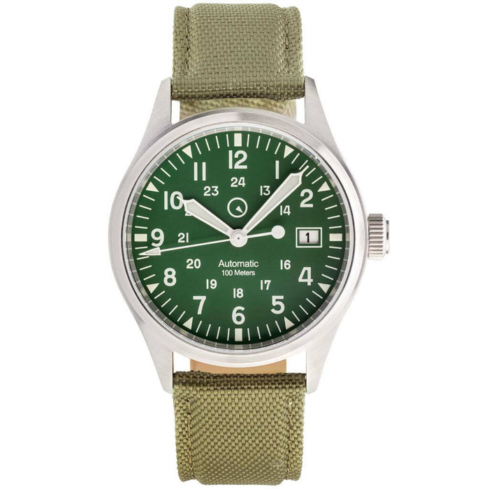 Islander Automatic Field Watch with Nylon Weave Strap and an AR Sapphire Crystal #ISL-43