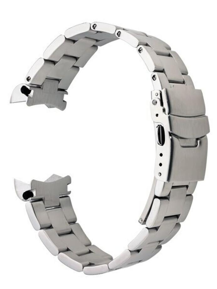 Islander 20mm Brushed Solid-Link Watch Bracelet for Islander ISL-53 and ISL-54 Watches, Curved End #BRAC-11
