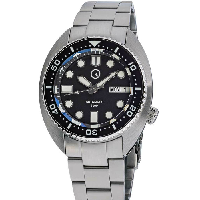 Islander Black Dial Automatic Dive Watch with AR Sapphire Crystal, and Lumious Ceramic Bezel Insert #ISL-71