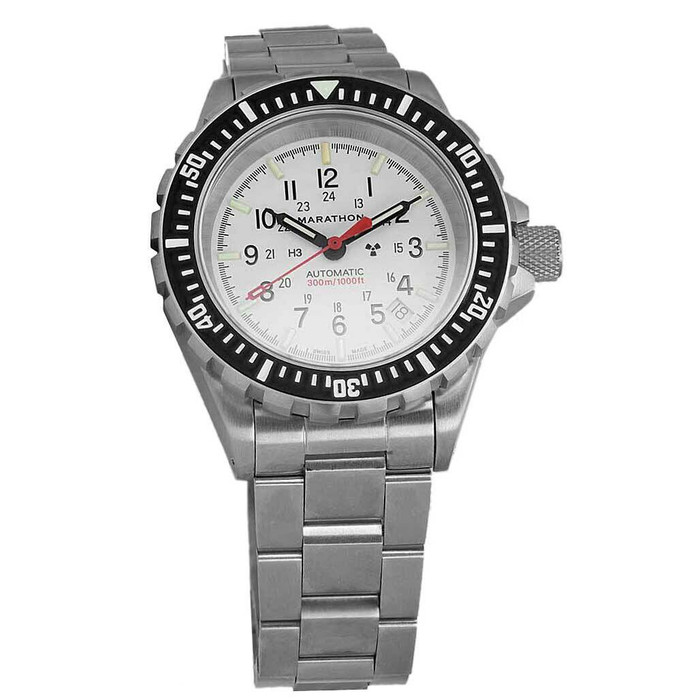 Marathon Swiss Made, GSAR Arctic Edition Automatic Military Divers Watch with Sapphire Crystal #WW194006BRACE-WD