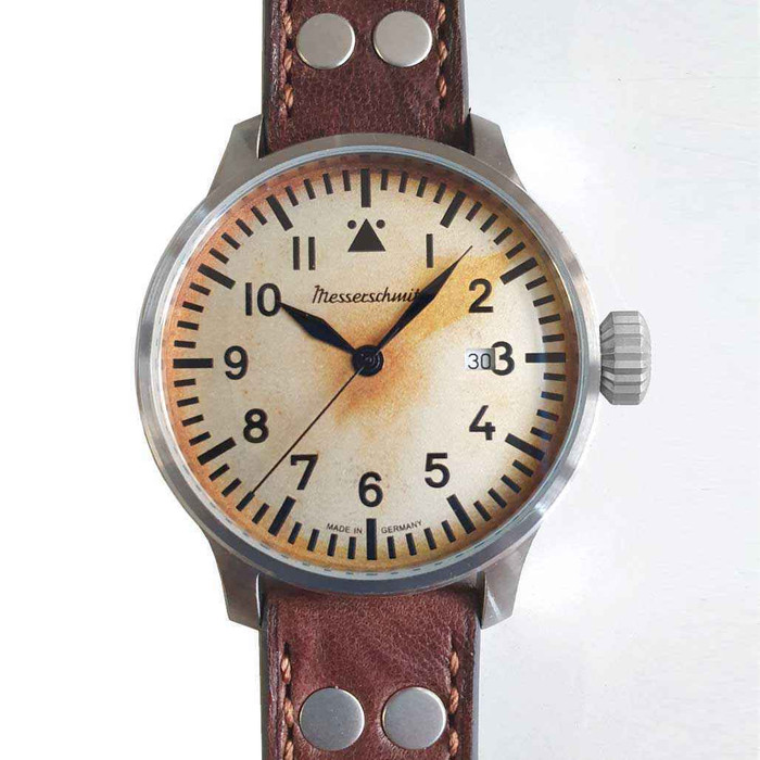 Messerschmitt Automatic Fliegeruhr Watch with Aged Patina Type-A Dial #ME-7H130A