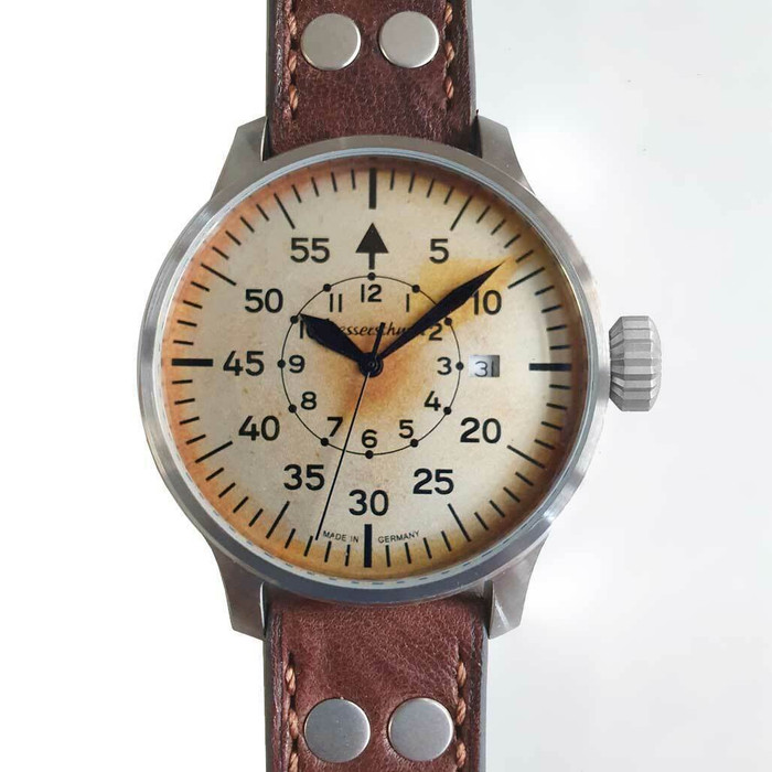 Messerschmitt Automatic Fliegeruhr Watch with Aged Patina Type-B Dial #ME-7H131A